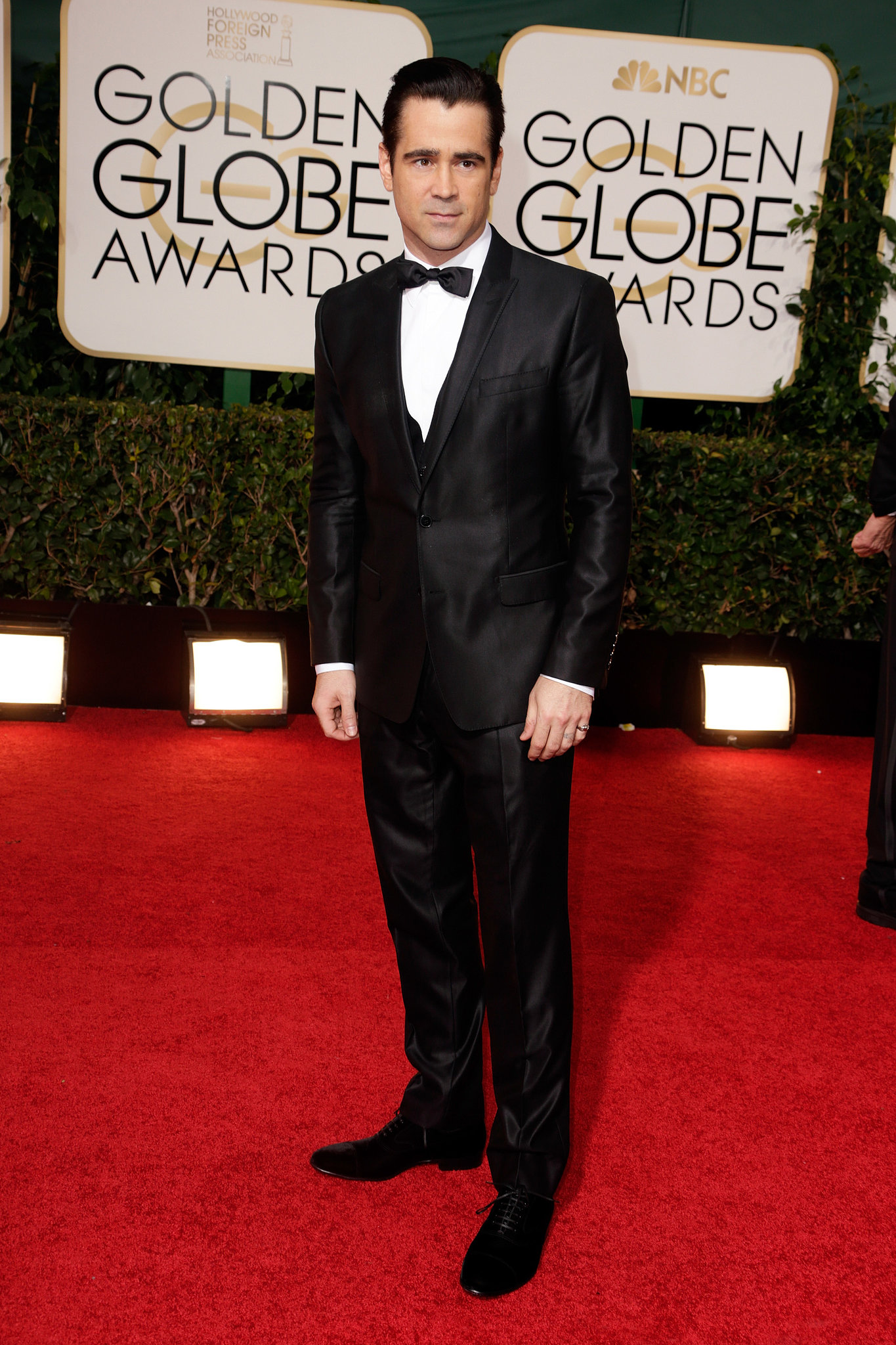 Colin Farrell attended the Golden Globes.