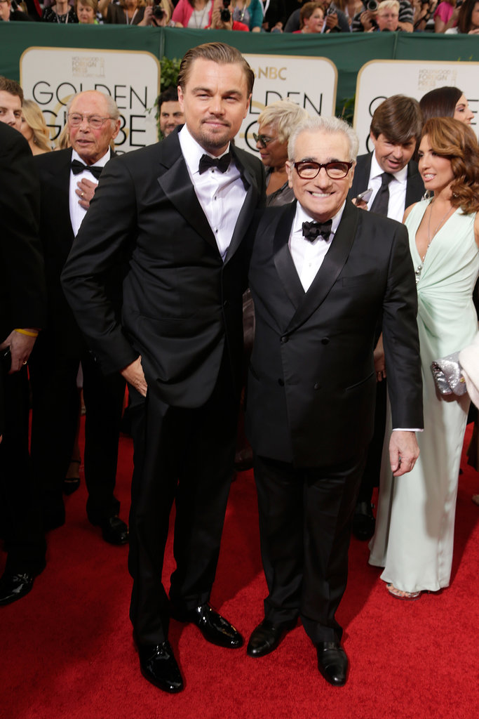 Leonardo DiCaprio stayed close to Martin Scorsese on the red carpet.