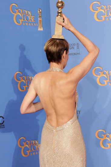 OMG! I Won! Stars Pose With Their Globes