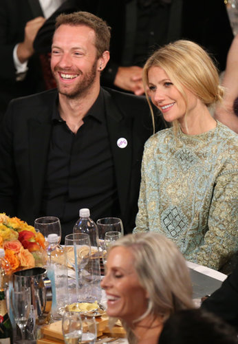 Gwyneth Paltrow and Chris Martin popped up in the Golden Globes audience despite skipping the red carpet.  Source: Christopher Polk/NBC/NBCU Photo Bank/NBC