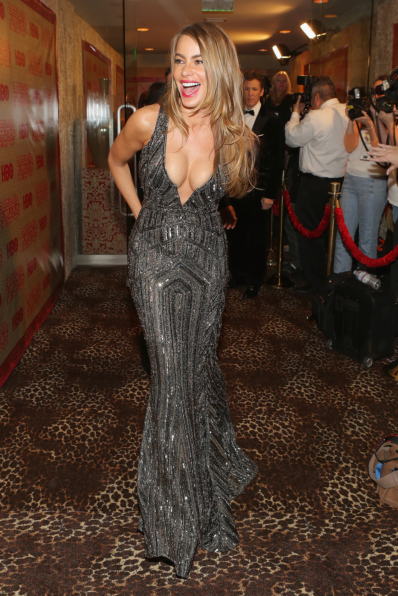Sofia Vergara bared her cleavage.