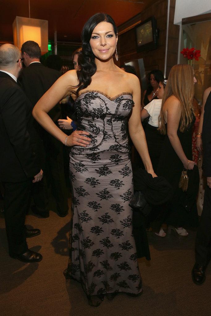 Laura Prepon wore a lace dress.