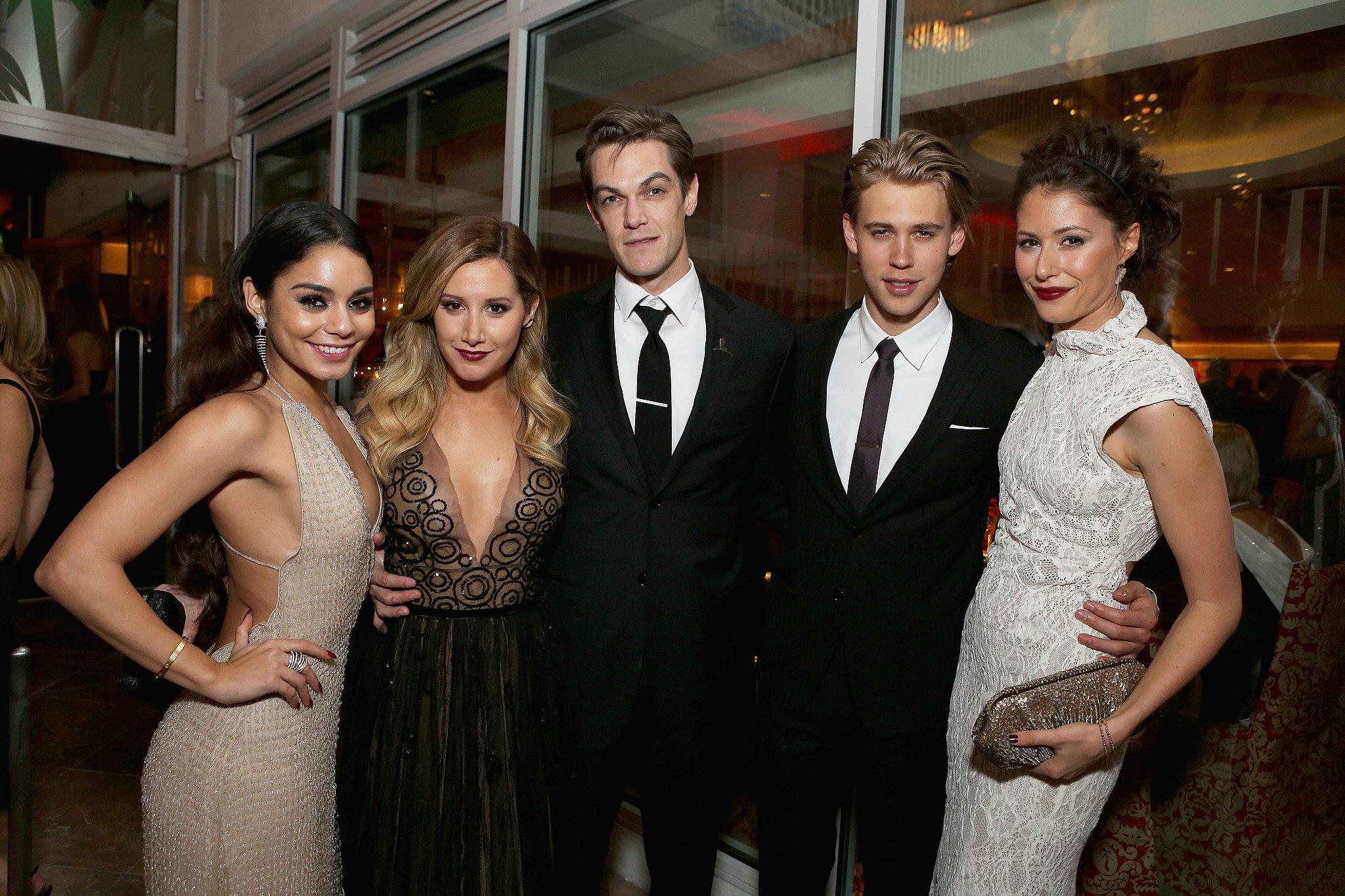 Vanessa Hudgens, Ashley Tisdale, Chris French, and Austin Butler met up inside.