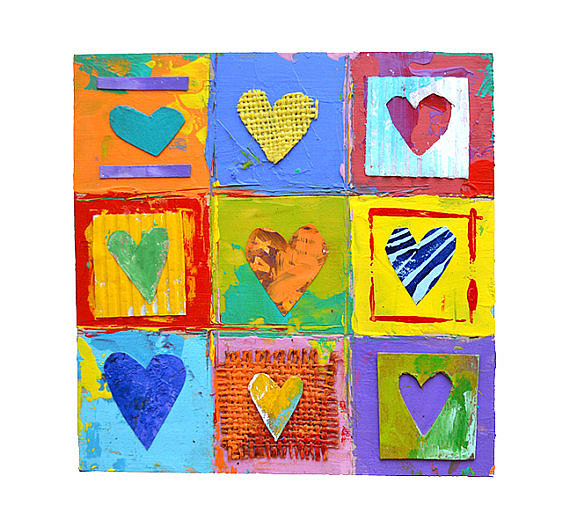 Bring some color into your child's room with these bold hearts ($52).