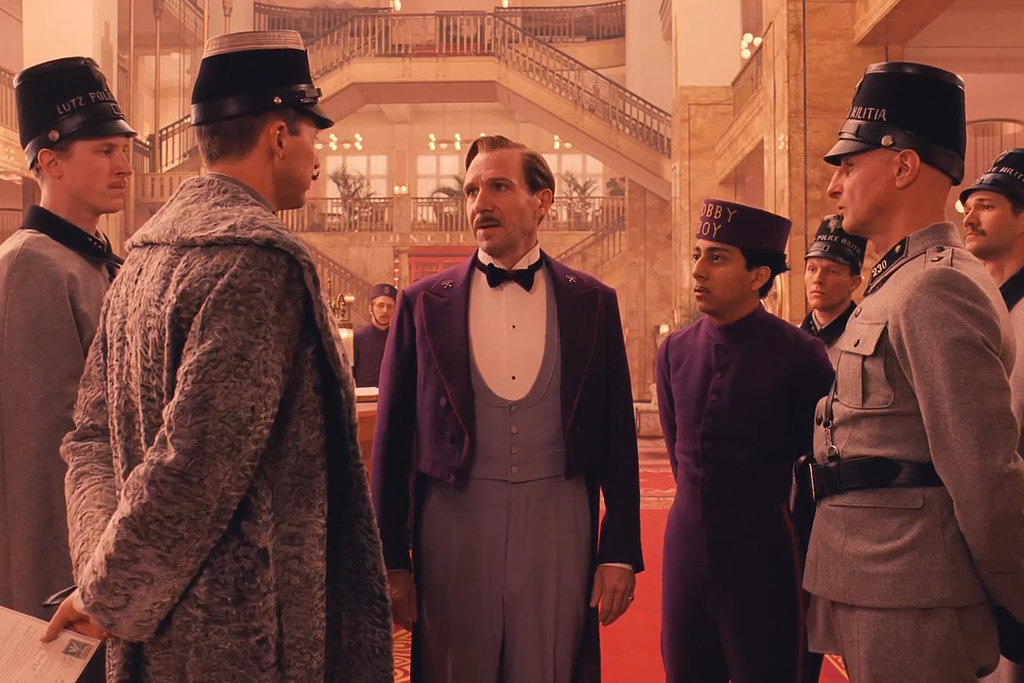 Legendary concierge Gustave H. (Ralph Fiennes) is confronted by Henckels (Edward Norton).