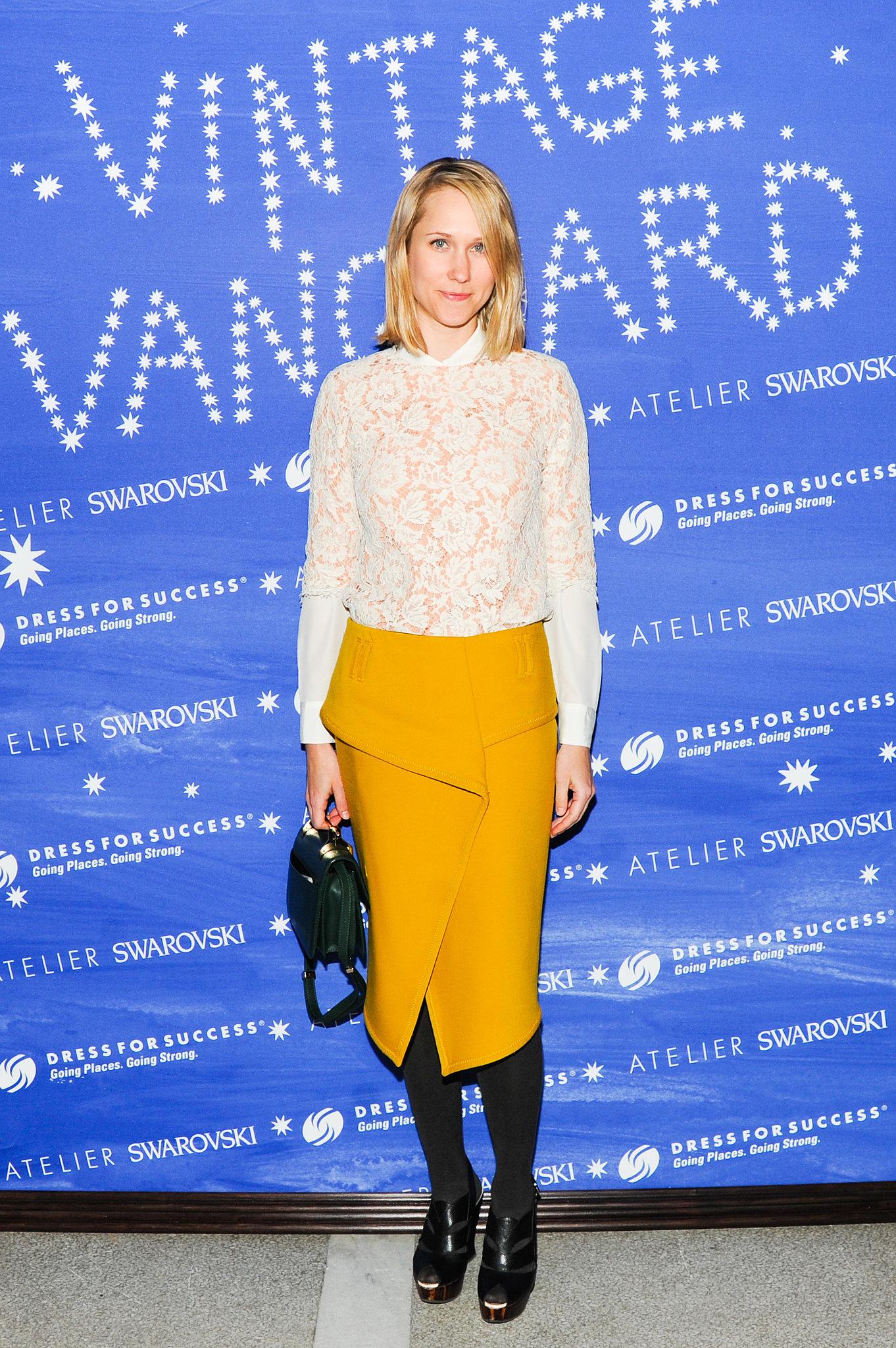 Indre Rockefeller at the Vintage Vanguard benefit.