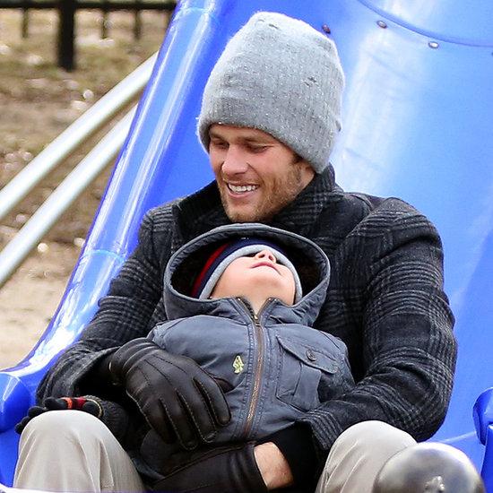 Tom Brady With Benjamin Brady at the Park in Boston