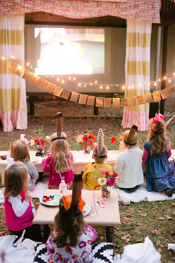 Backyard movie party for kids popsugar moms - Outdoor anniversary party ideas ...