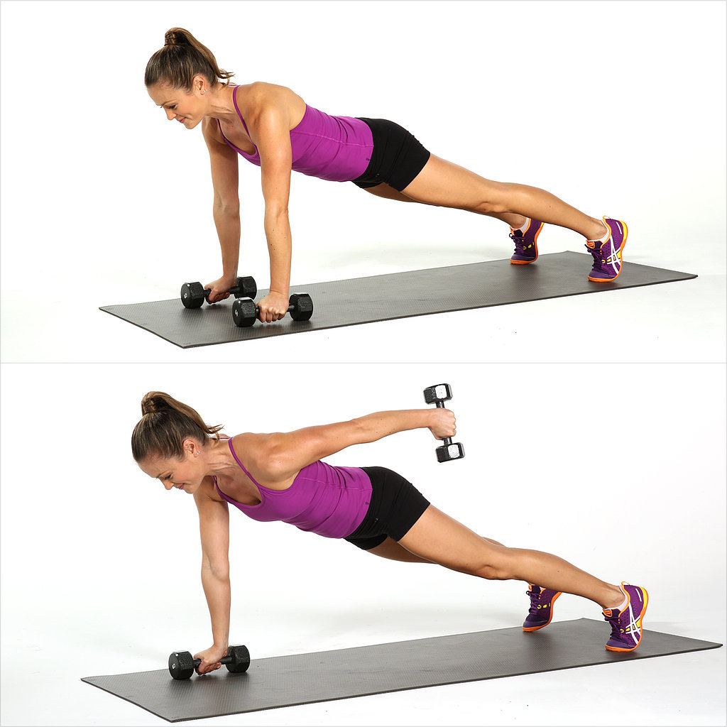 Plank and Straight-Arm Kickback