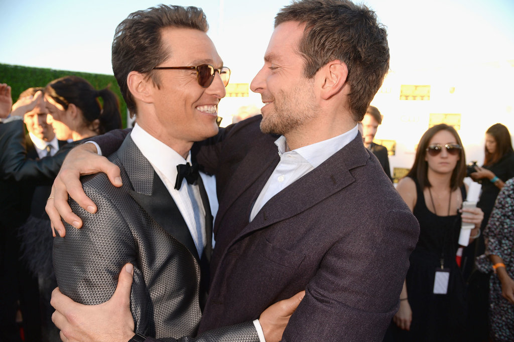 Bradley met up with Matthew McConaughey on the red carpet.
