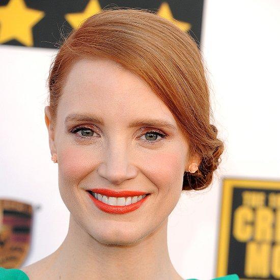 Orange Lipstick Makeup Trend at Critics' Choice Awards 2014