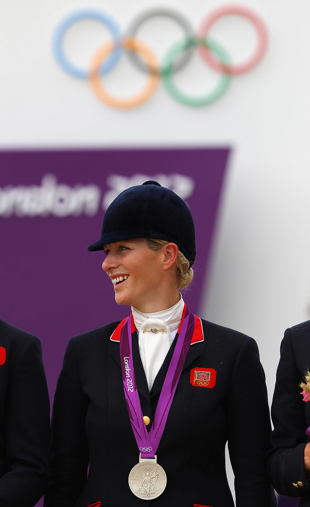 Zara posed with her silver medal at the London Olympics.