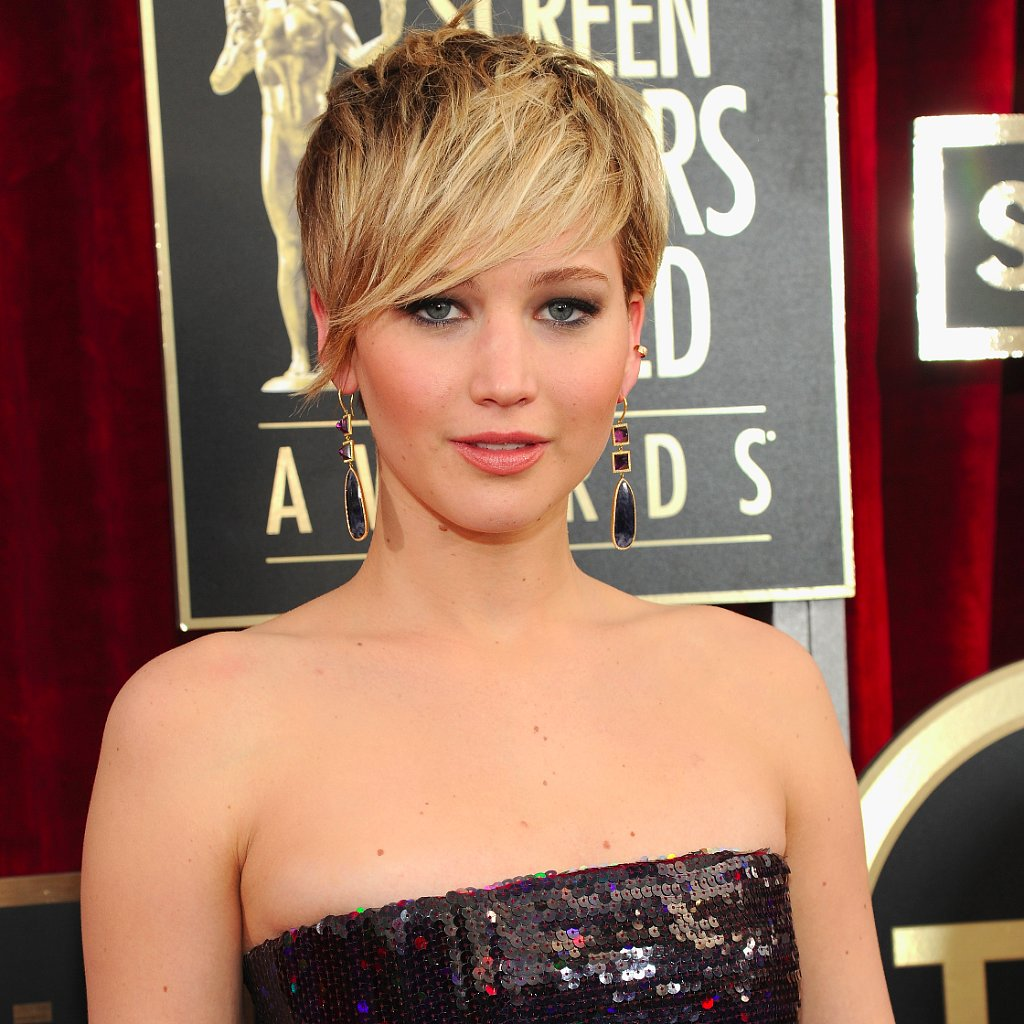 Jennifer Lawrence Hair Makeup Amp Beauty At 2014 Sag Awards