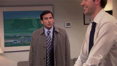 When Jim announces their engagement to the rest of the office, Michael brings it in for the real thing.