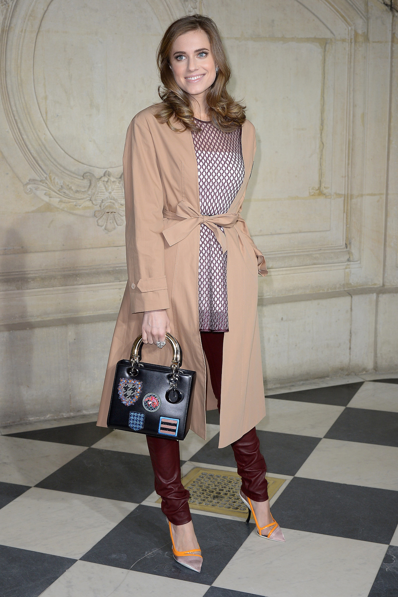 Allison Williams wears Miss (Camel Coat )