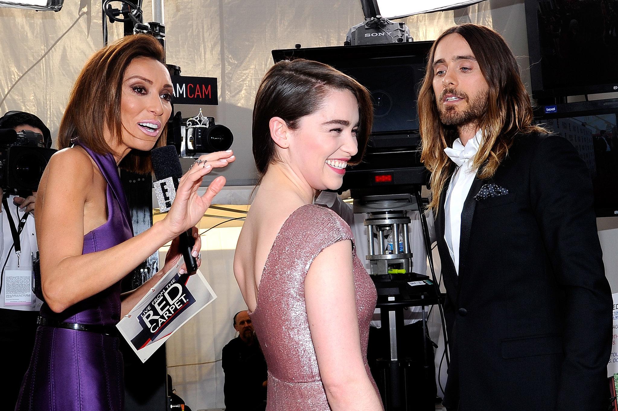 22. Jared Leto Flirts With Emilia Clarke