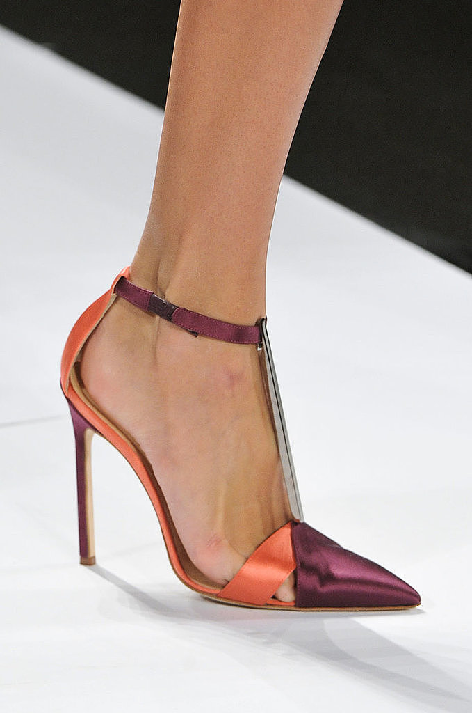 Ankle-Strap Pumps: Carolina Herrera Spring 2014