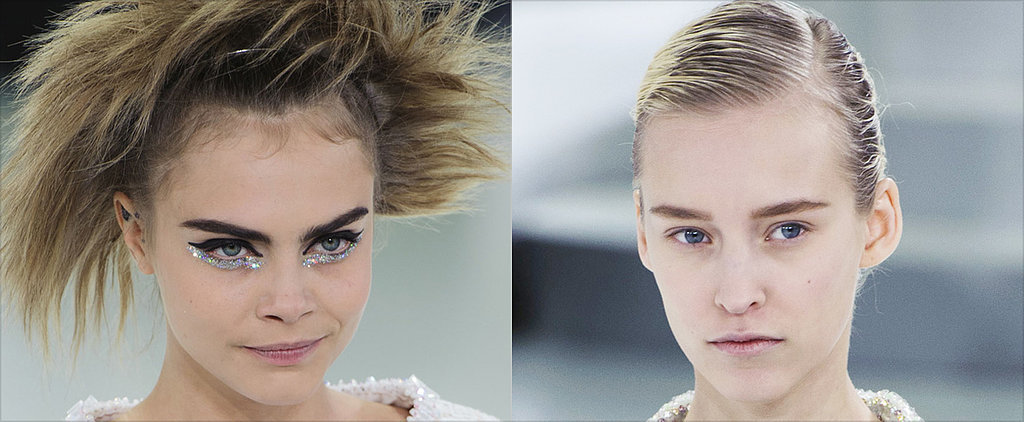 Chanel Showcases Major Bed Head and Rave-Kid Glitter Eyeliner
