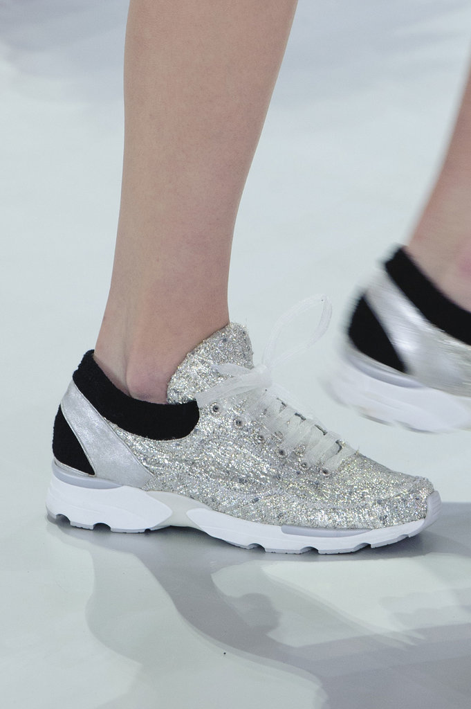 Chanel Haute Couture Spring 2014 Chanel Says It 39 S Ok To Wear Sneakers Our Feet Rejoice