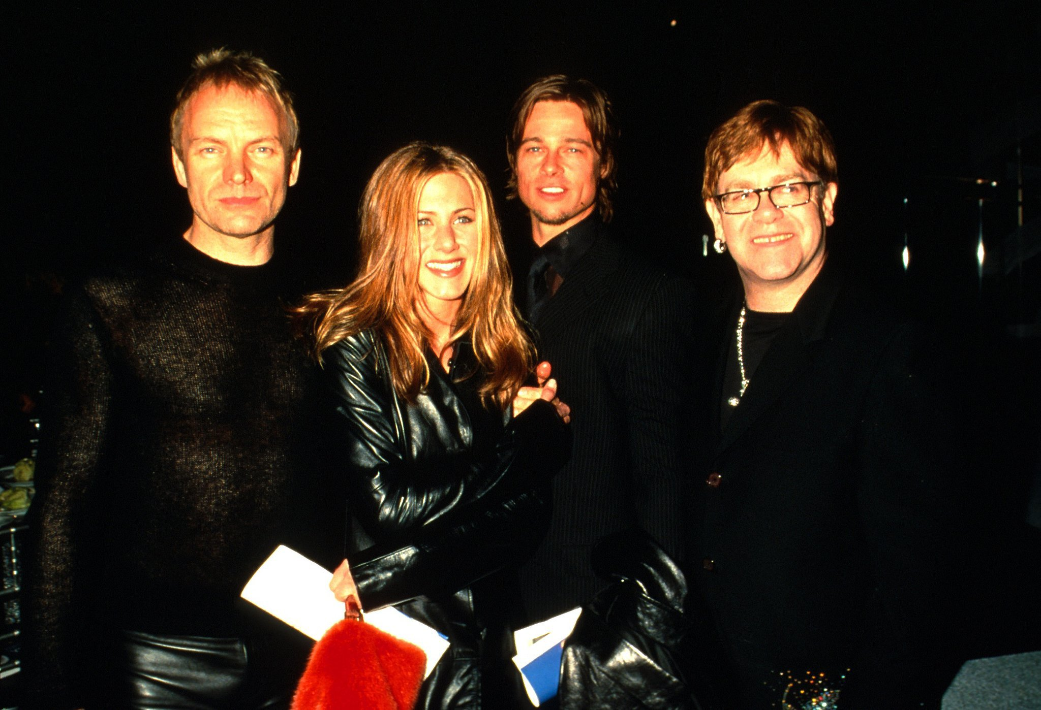 Sting, Jennifer Aniston, and Brad Pitt were there to see Elton John named the 2000 MusiCares Person of the Year by the Grammys.