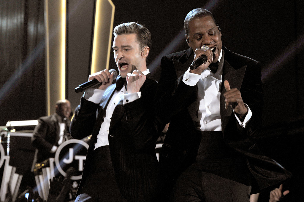 "Justin Timberlake and Jay Z took the 2013 show by storm with their performance of ""Suit & Tie."""