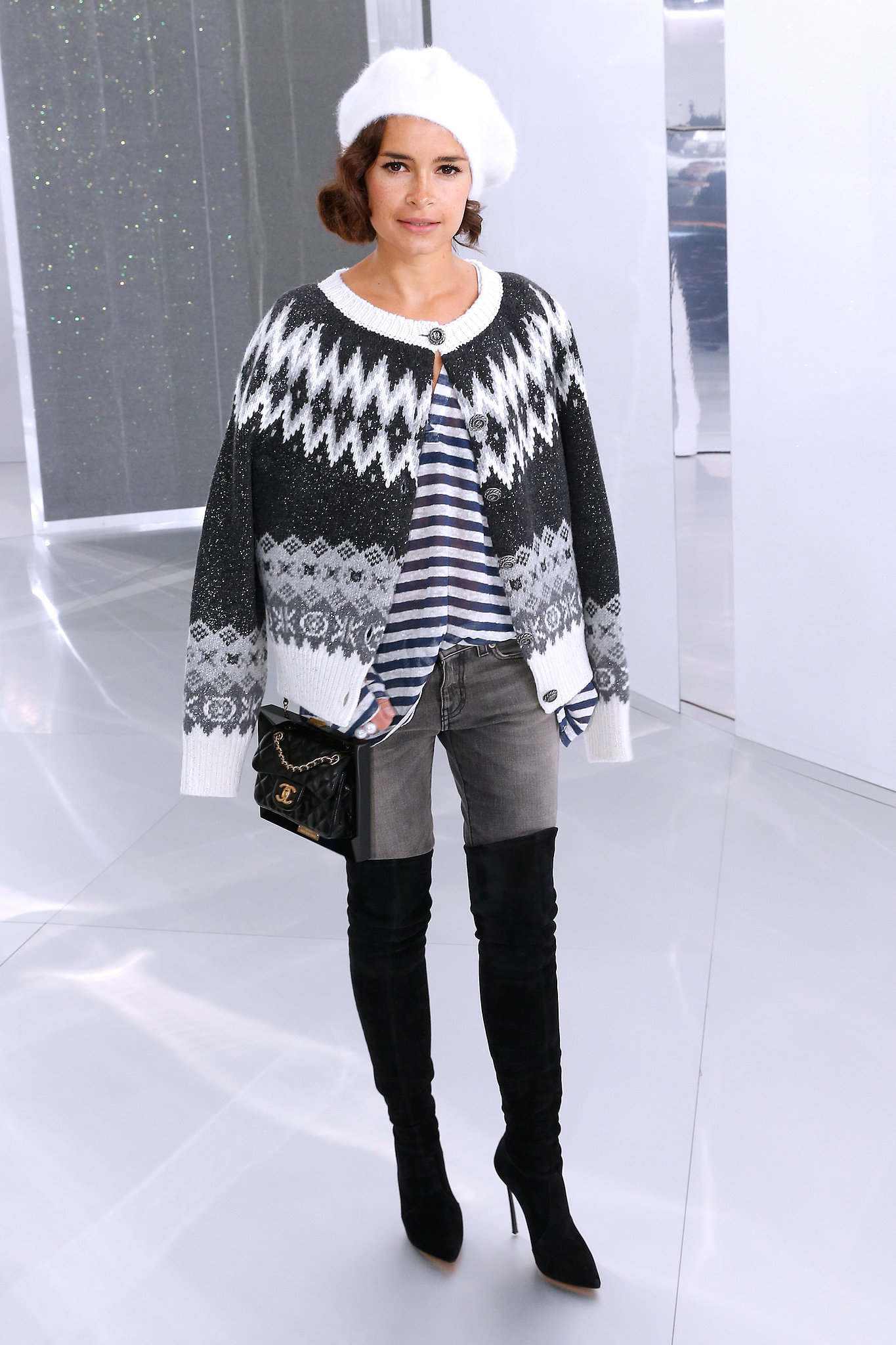 Miroslava Duma at the Chanel Paris Haute Couture show.