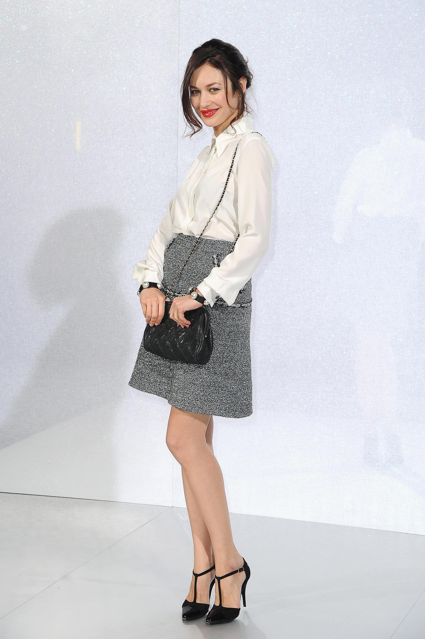 Olga Kurylenko at the Chanel Paris Haute Couture show.