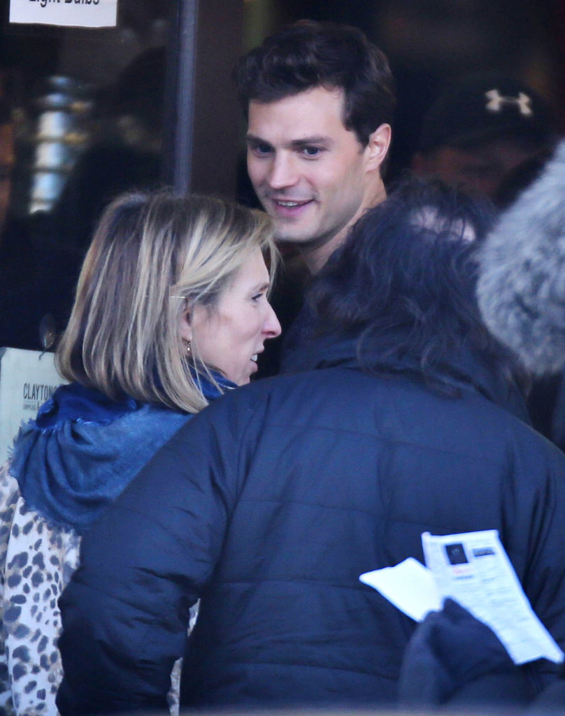 Earlier this year, Dornan lit up with a smile that would make Anastasia flush scarlet.