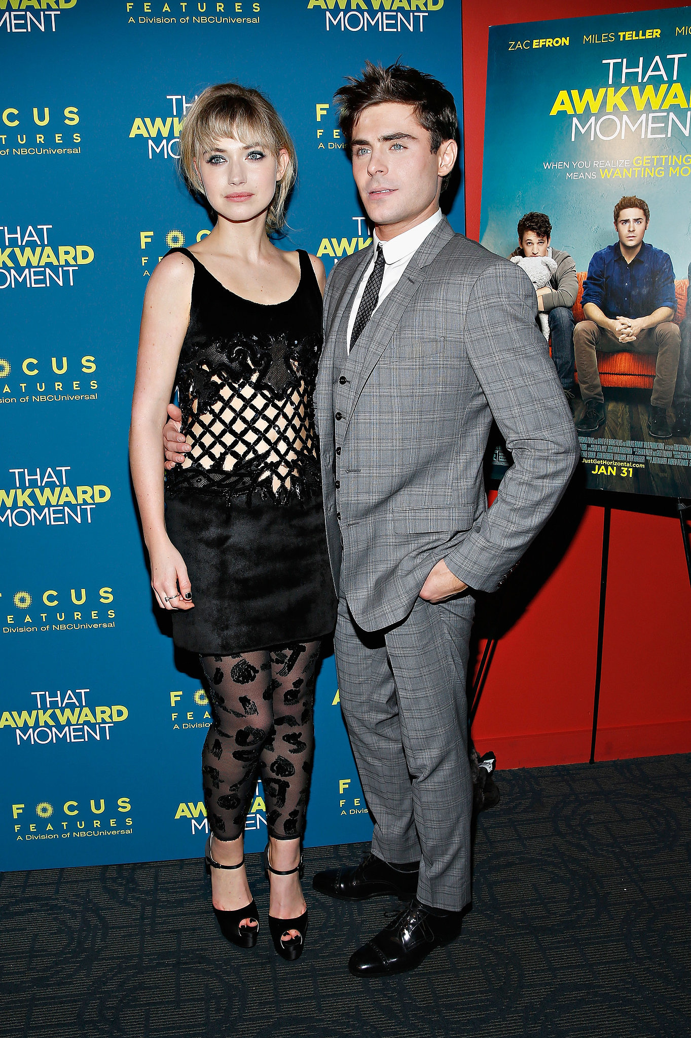 Zac and Imogen made a good-looking red carpet pair.