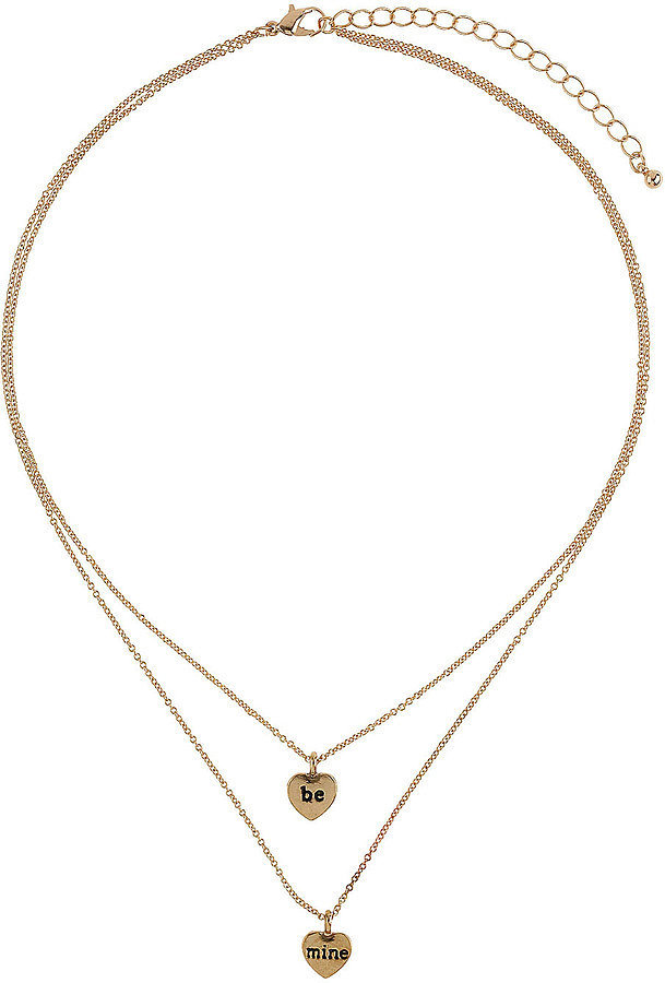 Topshop Heart Necklace