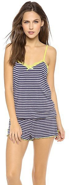 Honeydew Striped Romper