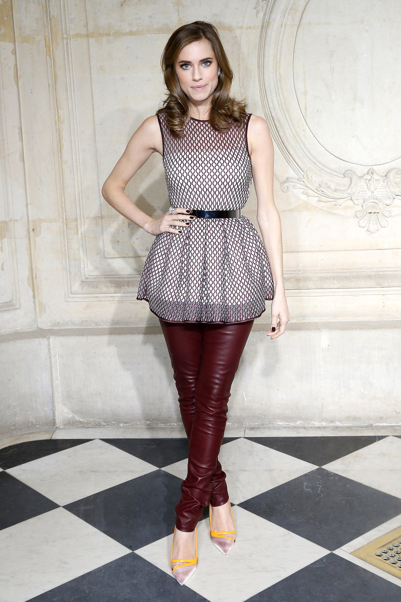 Allison Williams at the Dior Haute Couture Show
