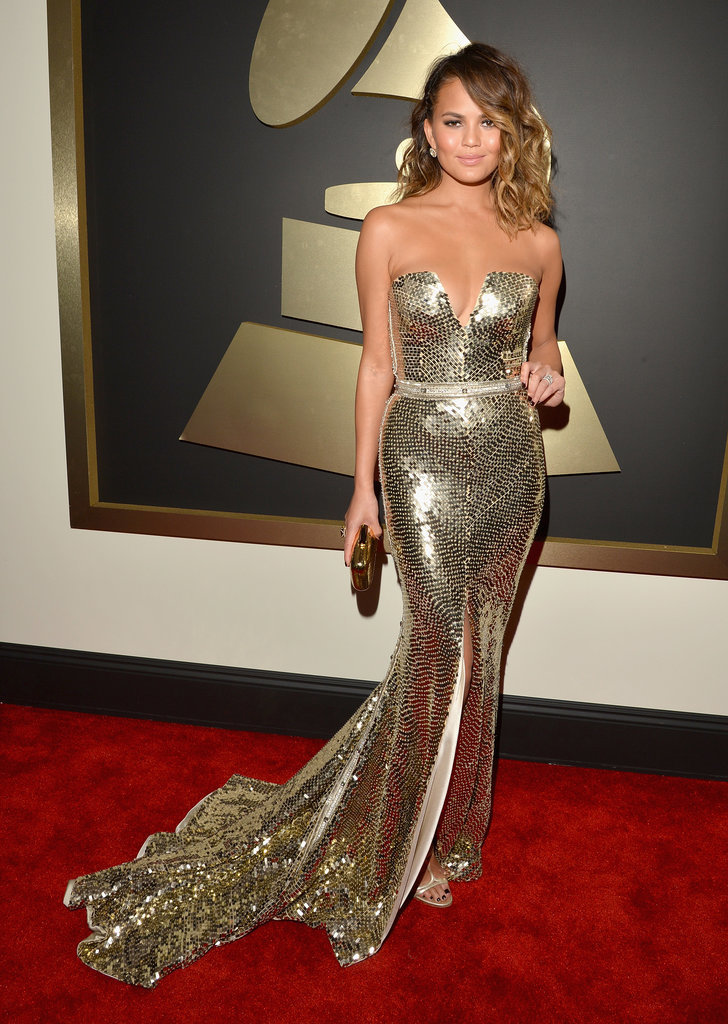 Chrissy Teigen at the Grammys 2014