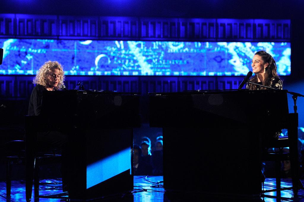 Sara Bareilles and Carole King performed together.