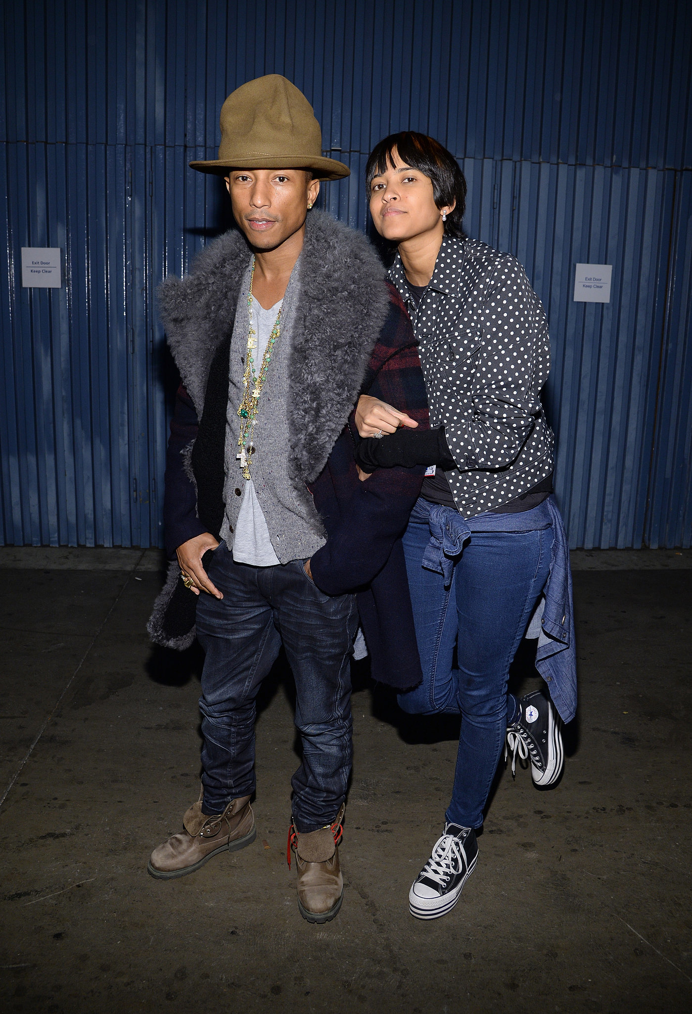 Pharrell and Helen Lasichanh made one hip couple.