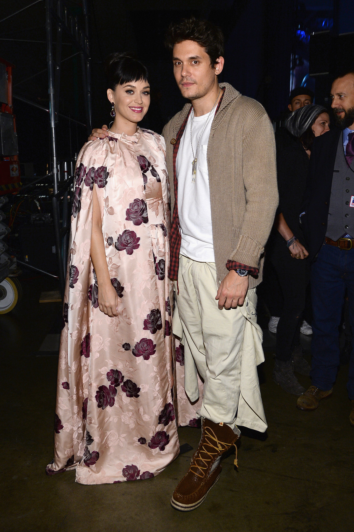 Katy Perry and John Mayer got cozy behind the scenes.