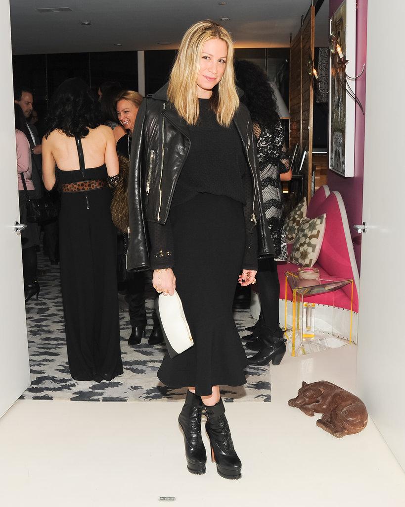 Jennifer Fisher attended Diane von Furstenberg and the CFDA's bash for Marigay McKee.
