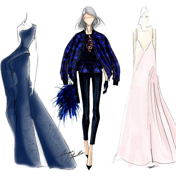 Fall 2014 new york fashion week designer sketches for Nyu tisch fashion design