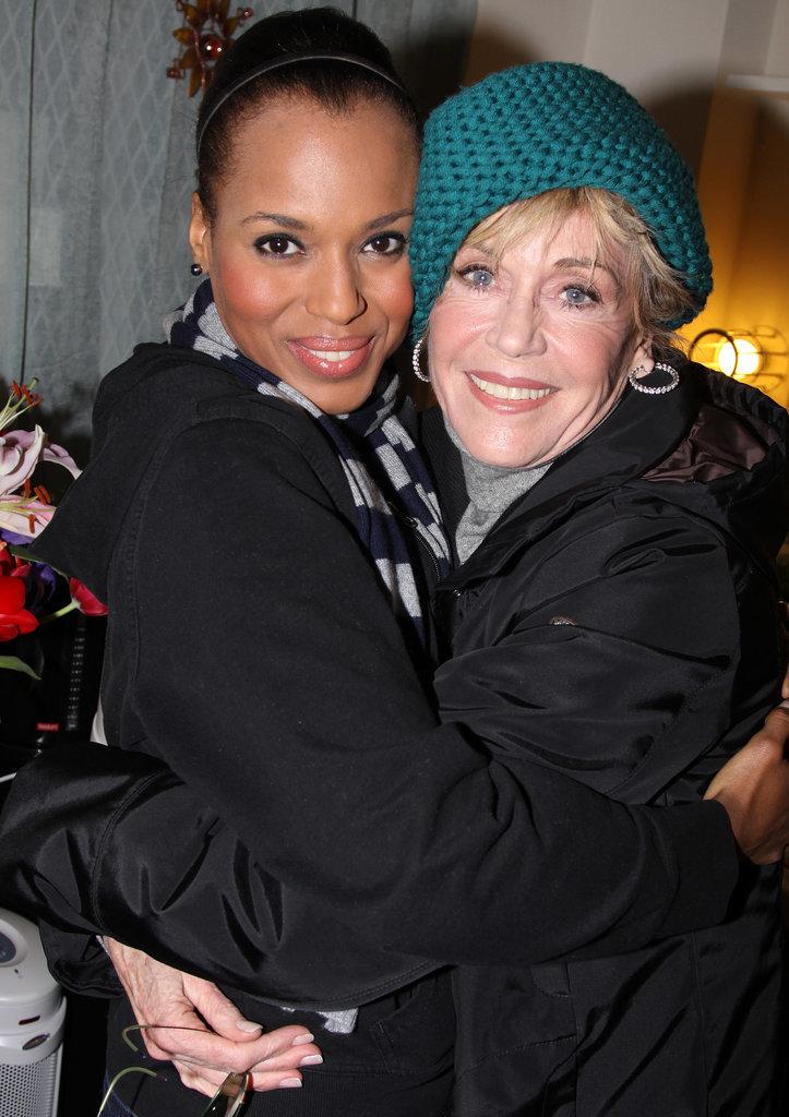 She Hugs Jane Fonda, With Gusto