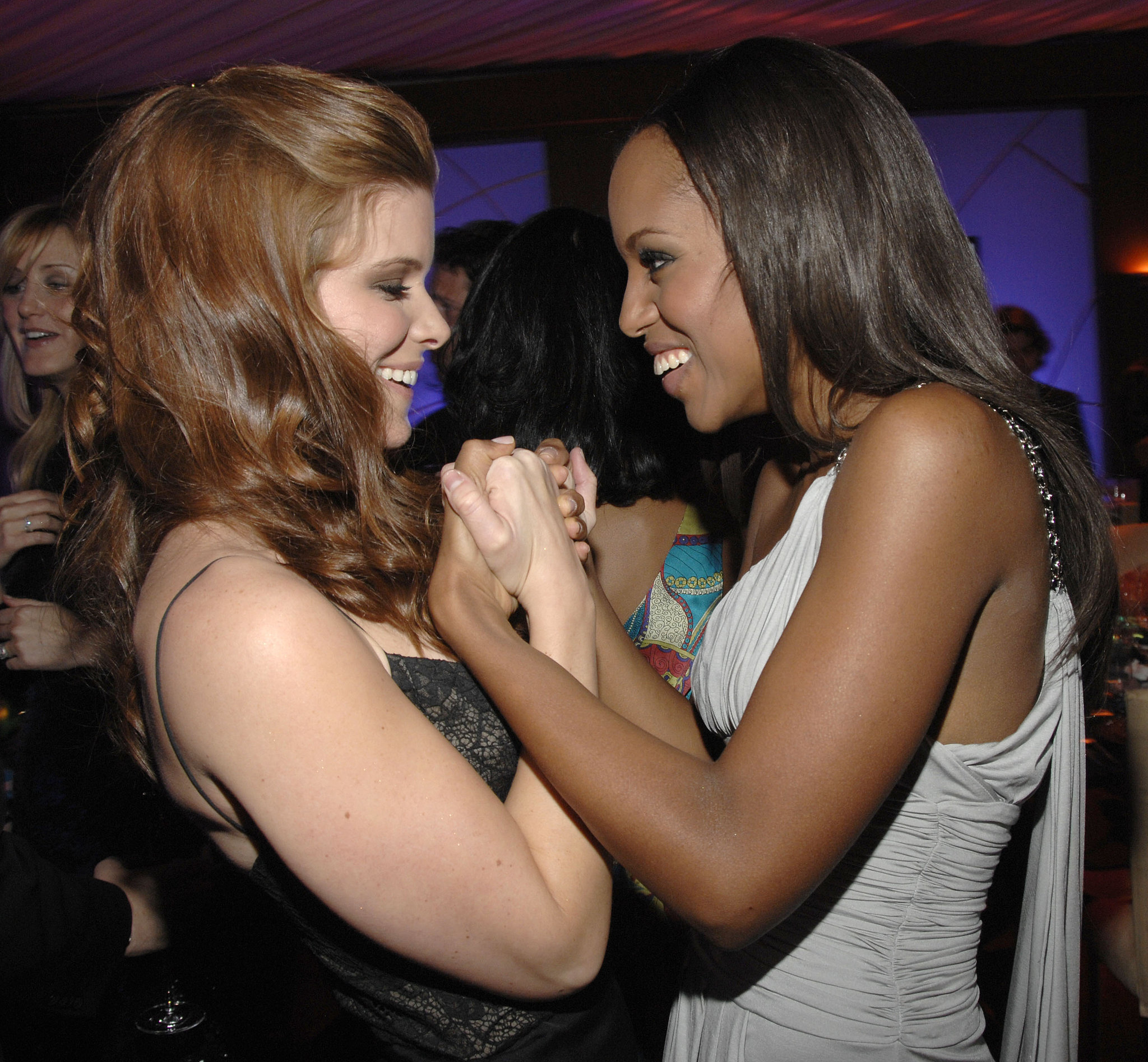 She Holds Hands With Kate Mara