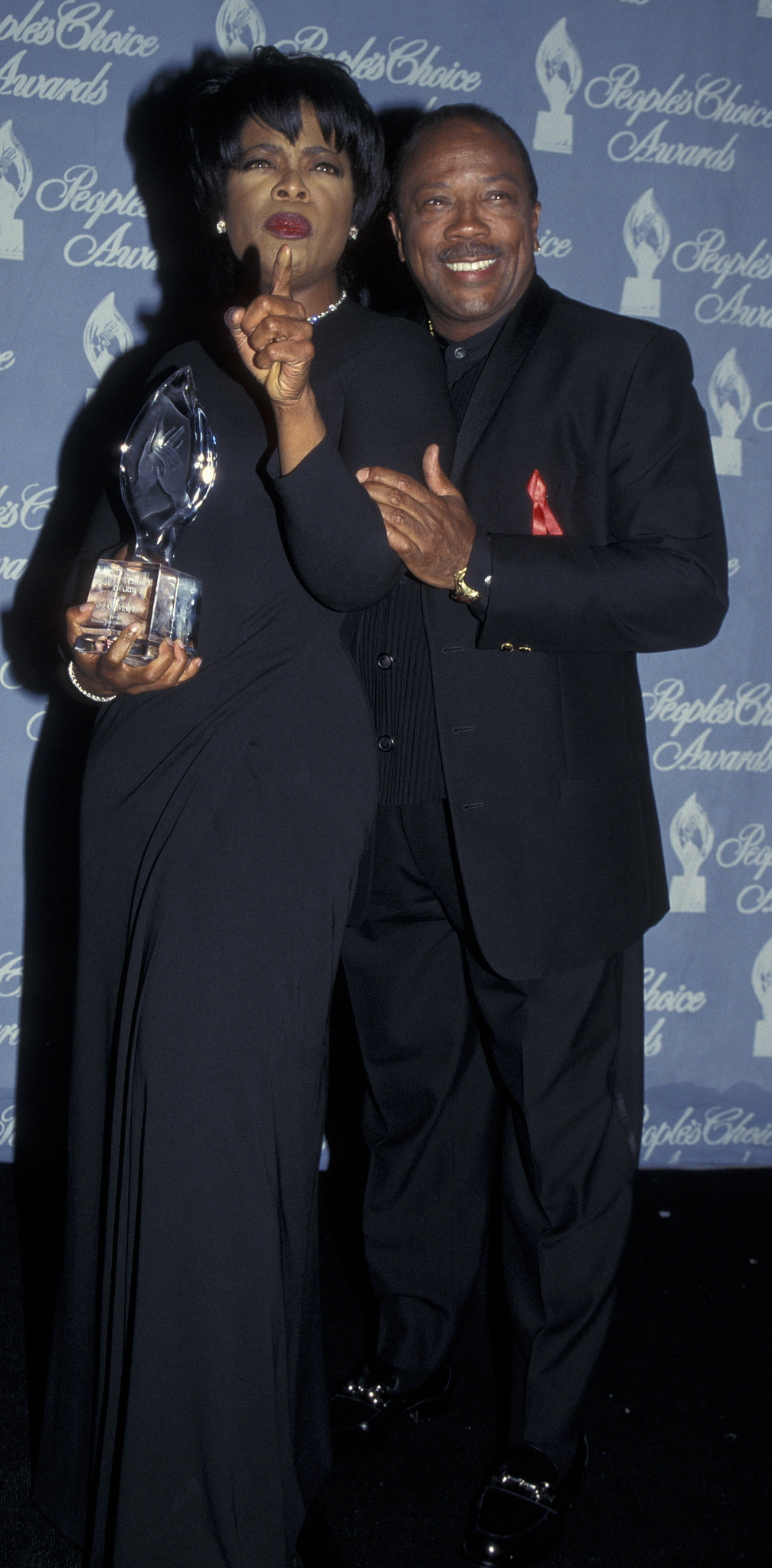 Oprah and Quincy Jones attended the People's Choice Awards in 1997.