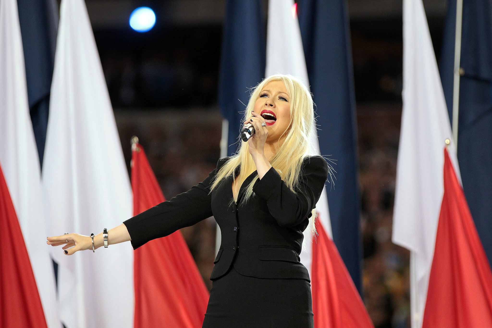Christina Aguilera's controversial lyric flub during the 2011 Super Bowl national anthem at Cowboys stadium was unforgettable.