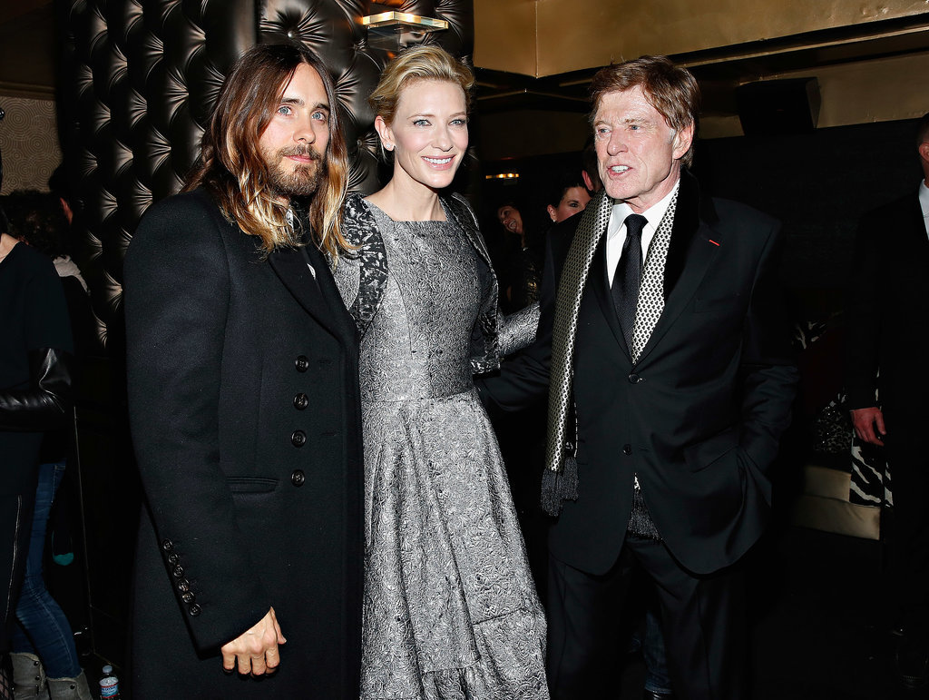 Jared posed for a photo with Cate Blanchett during the New York Film Critics Circle Awards, and even Robert Redford couldn't help but look his way.