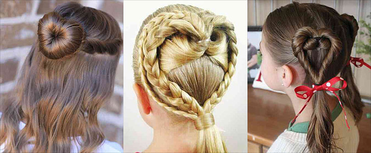 "Easy Hairstyles Your Daughter Will ""Heart"" This Valentine's Day"