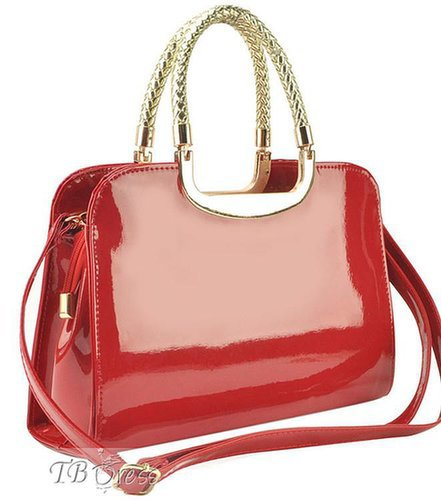 $ 43.69 Elegant Shinning Pure Color Patent Leather Women's One-shoulder Bag