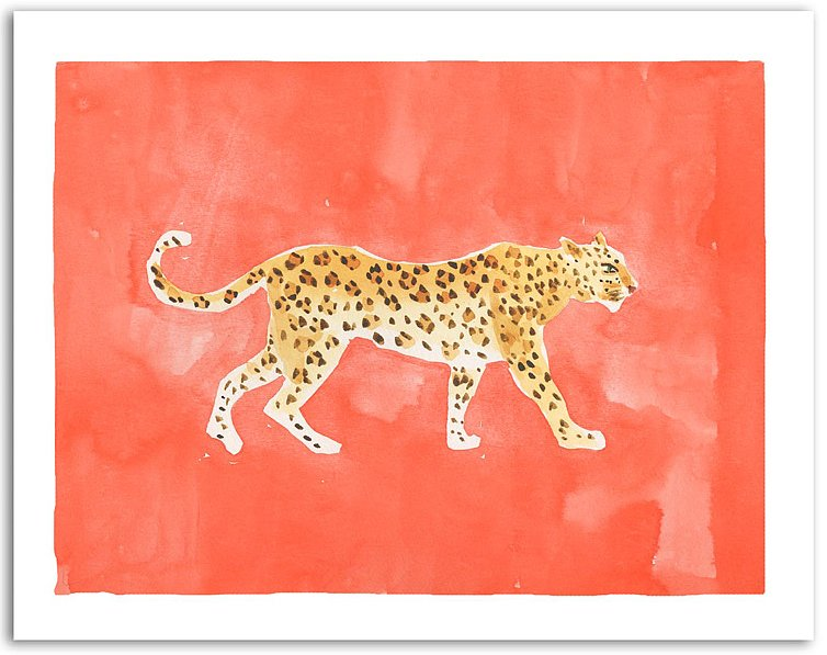 You might be loving leopard in your wardrobe, but have you tried it on your walls? This watercolor print ($95) by New York-based artist and illustrator Caitlin McGauley will bring out your wild side.  — Angela Elias, associate editor