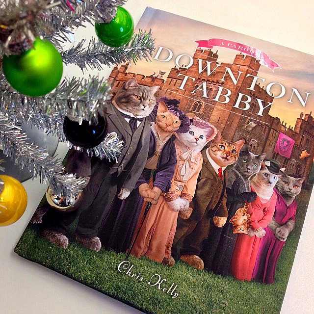 """""""For the cat lover who's ALSO a Downton Abbey fan: Downton Tabby."""""""