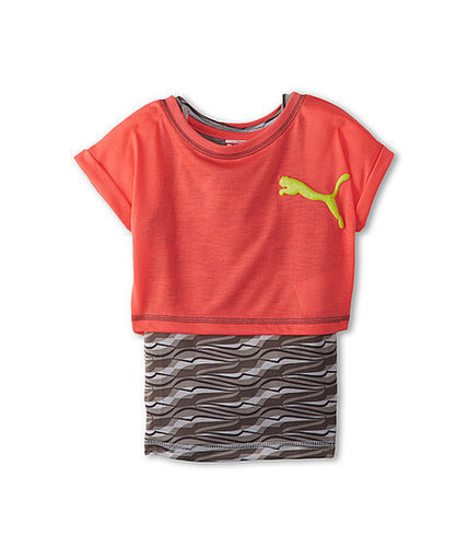 Puma Kids S/S Cuffed 2-fer w/ Printed Tank Top (Little Kids)
