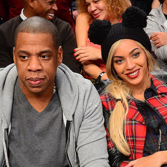 Beyonce and Jay Z With Russell Wilson at a Nets Game
