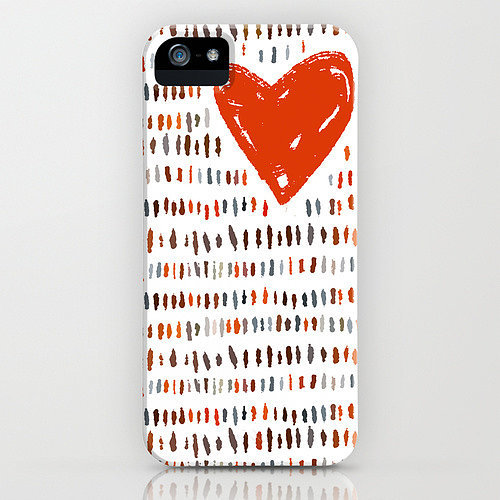 Heart doodle case ($35) for iPhone models and Samsung Galaxy S4